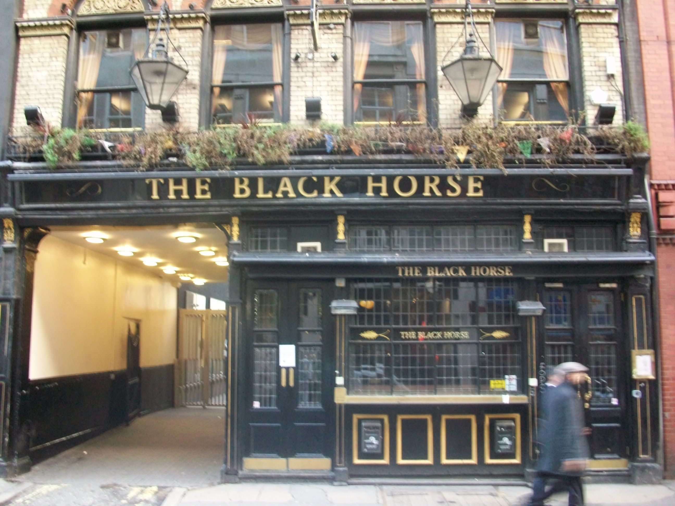 Front of the The Black Horse pub