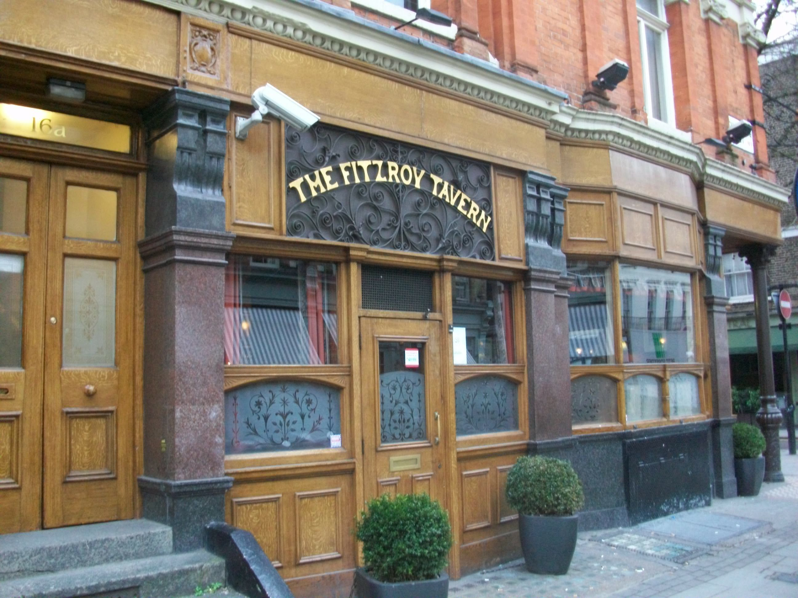 The Fitzroy Tavern in Charlotte Street. In the 1940s an Australian theatre group donated food for underprivileged children in London.