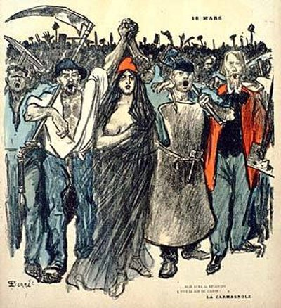 """Cover illustration by Théophile-Alexandre Steinlen, from """"Le Chambard Socialiste,"""" March 17, 1894."""