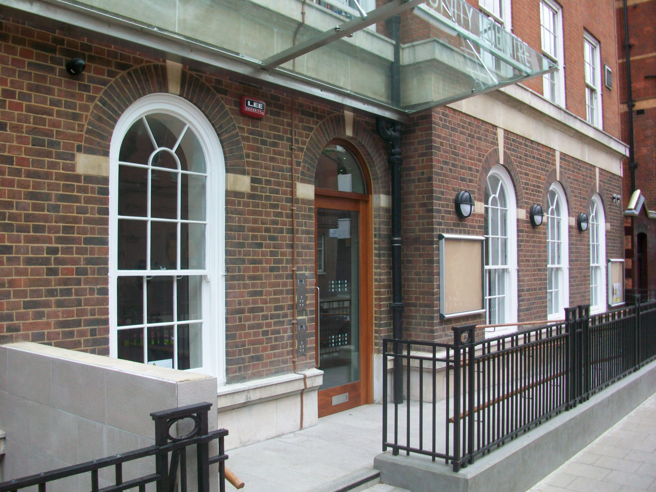 Outside of community centre in Foley Street