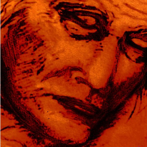 Pencil drawing of woman sleeping