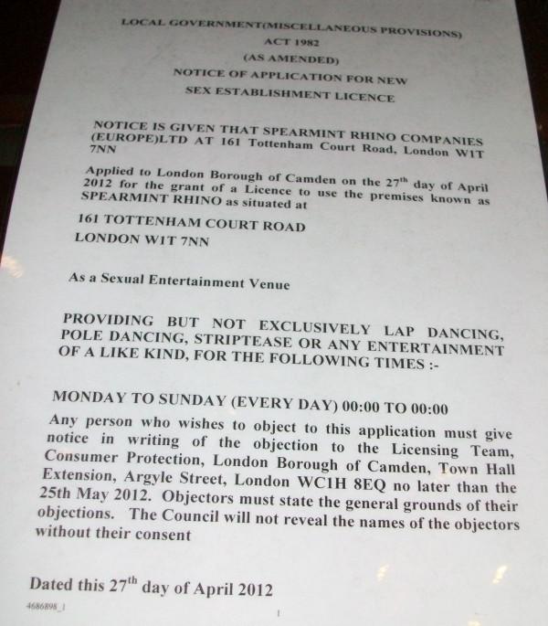 Licence notice.