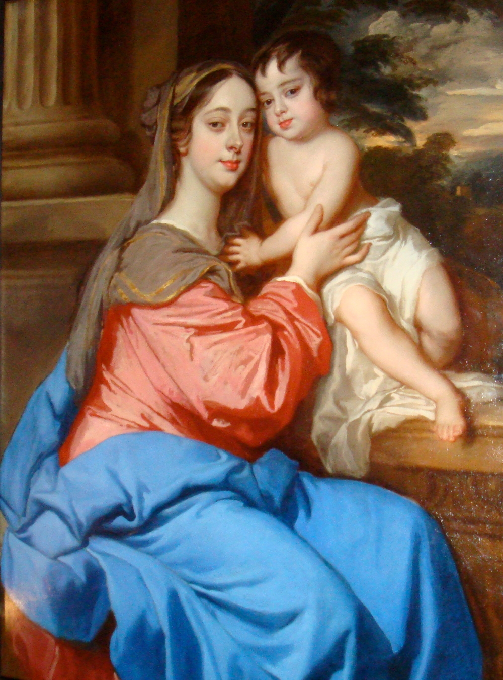 Painting of woman with child.