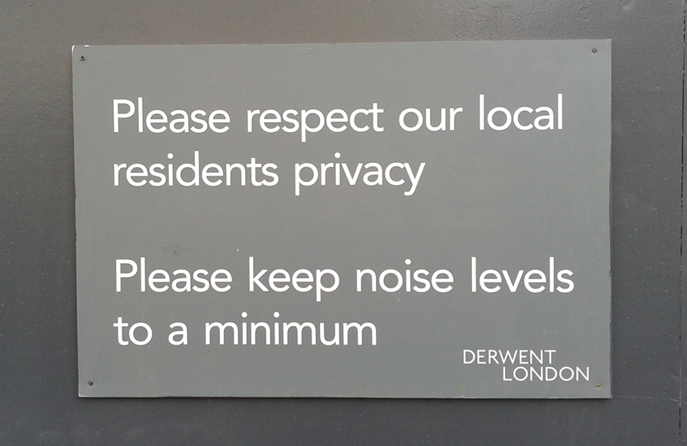 Please keep noise levels to a minimum.