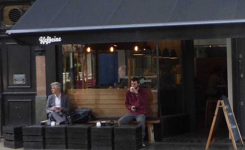 Shop front of coffee shop.