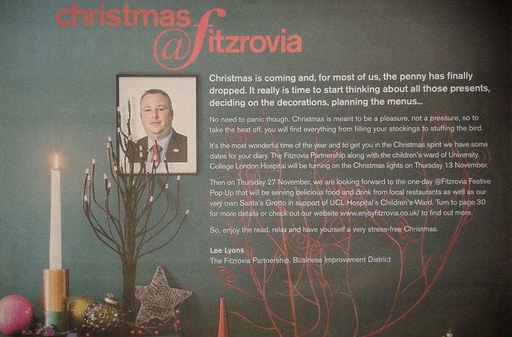 Lee Lyons Christmas message.