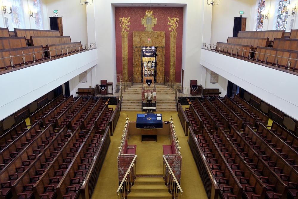 Inside of synagogue.