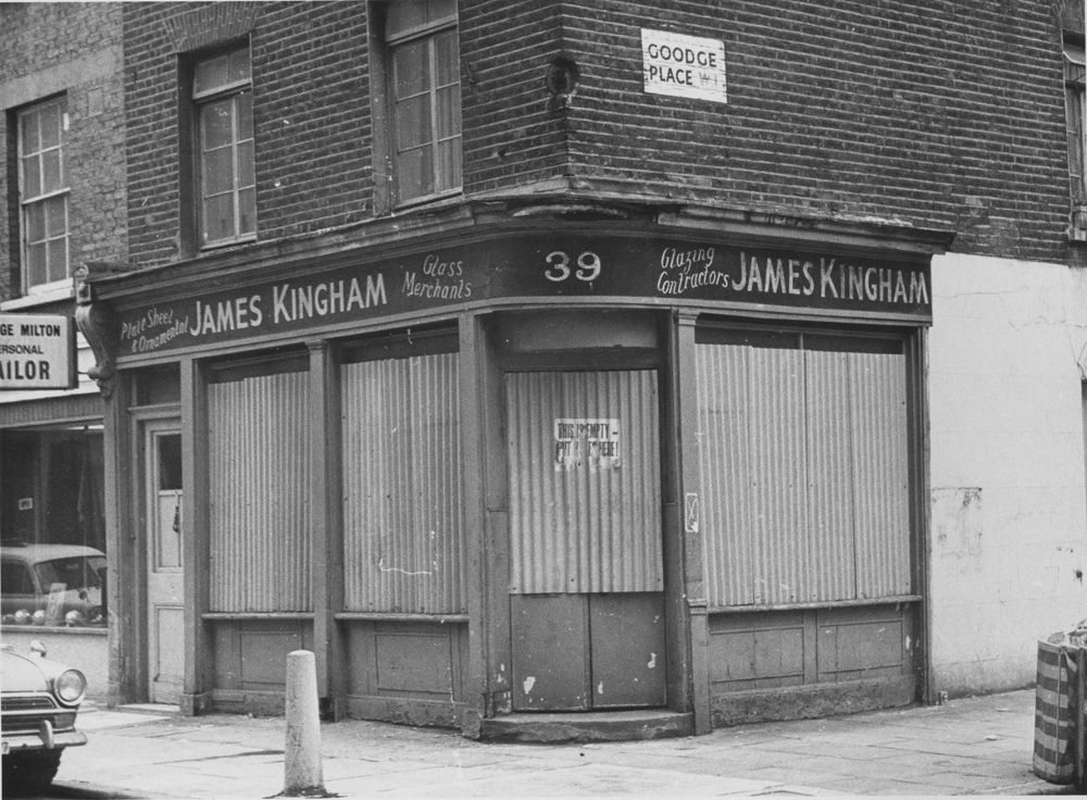 Front of building from 1975.