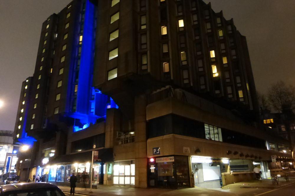 Brutalist building.