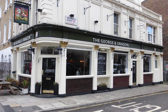 Pub on corner of street.