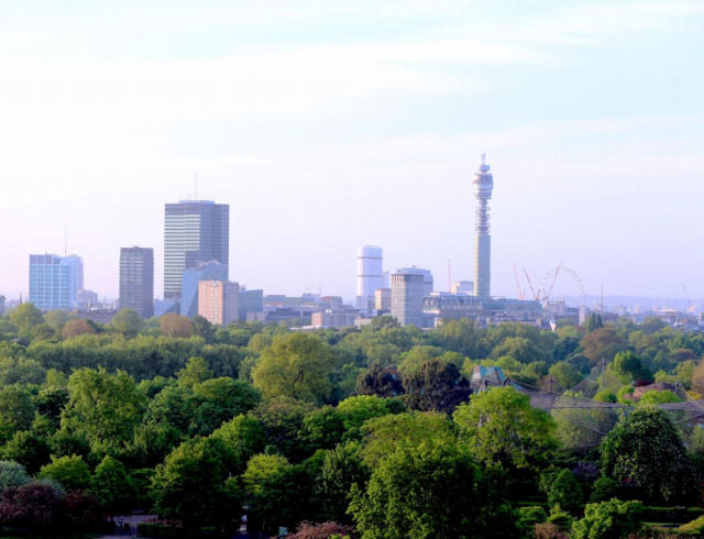 View of Fitzrovia.