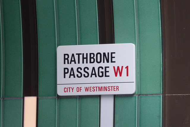 Rathbone Passage sign.