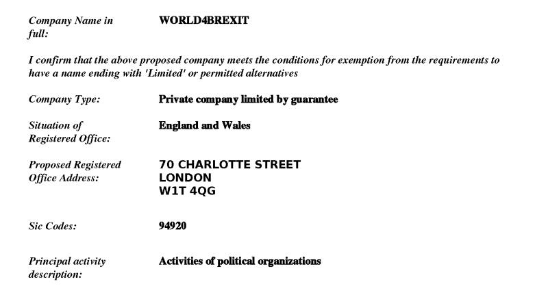 Companies House document.