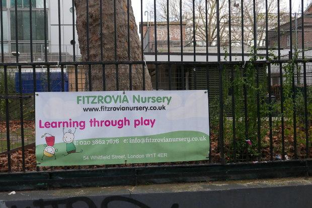 Outside of children's nursery