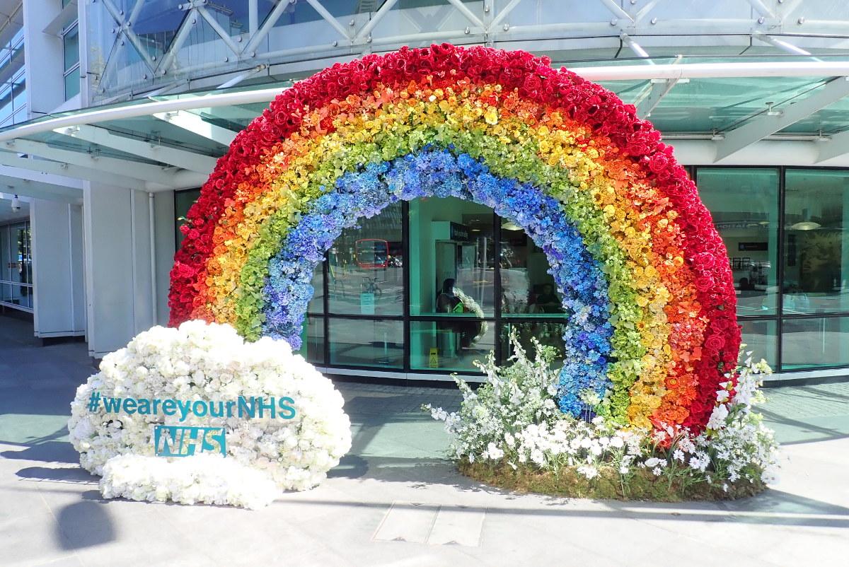 Floral rainbow.
