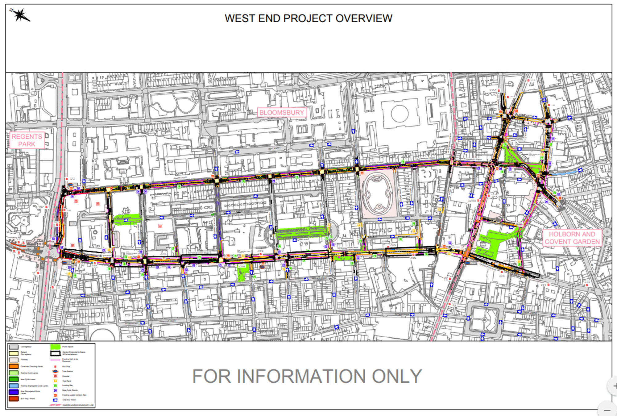 Map showing overview of West End Project.