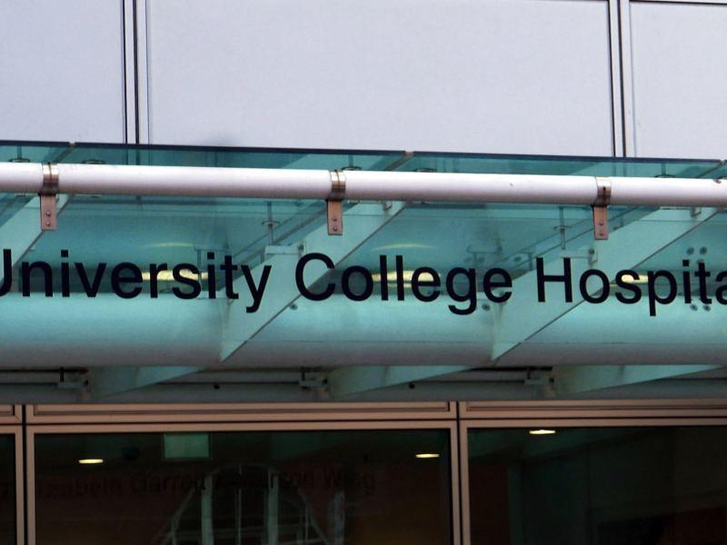 Univeristy College Hospital sign.