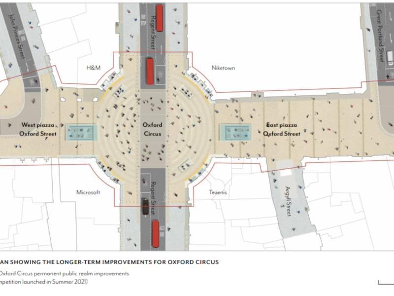 Proposed Oxford Circus plan.